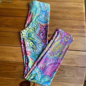 Fun, colorful Yoga Pants XS
